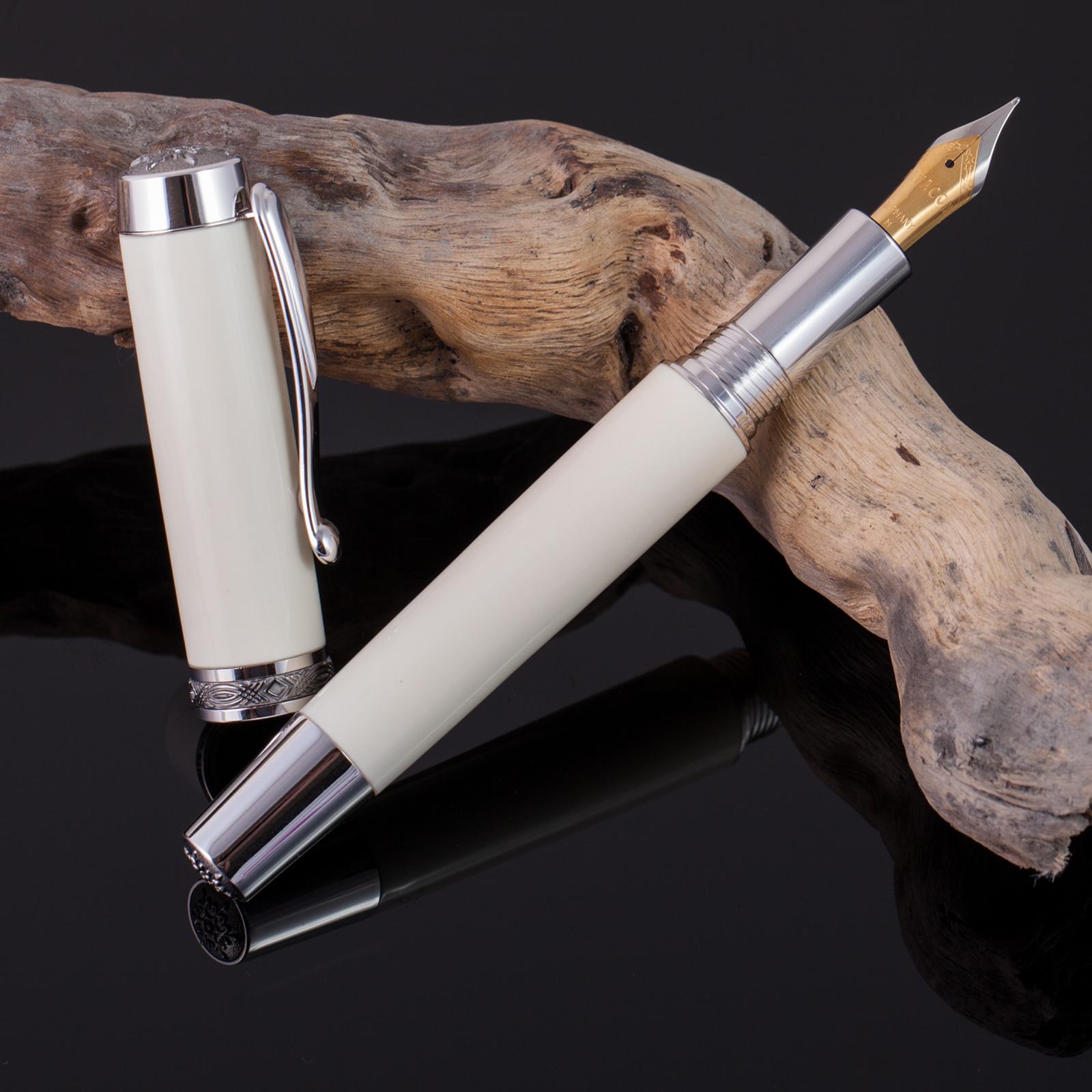 Füller-Mammut-Füllfederhalter-Unikat-Rarität-Mammutelfenbein-Gold-001