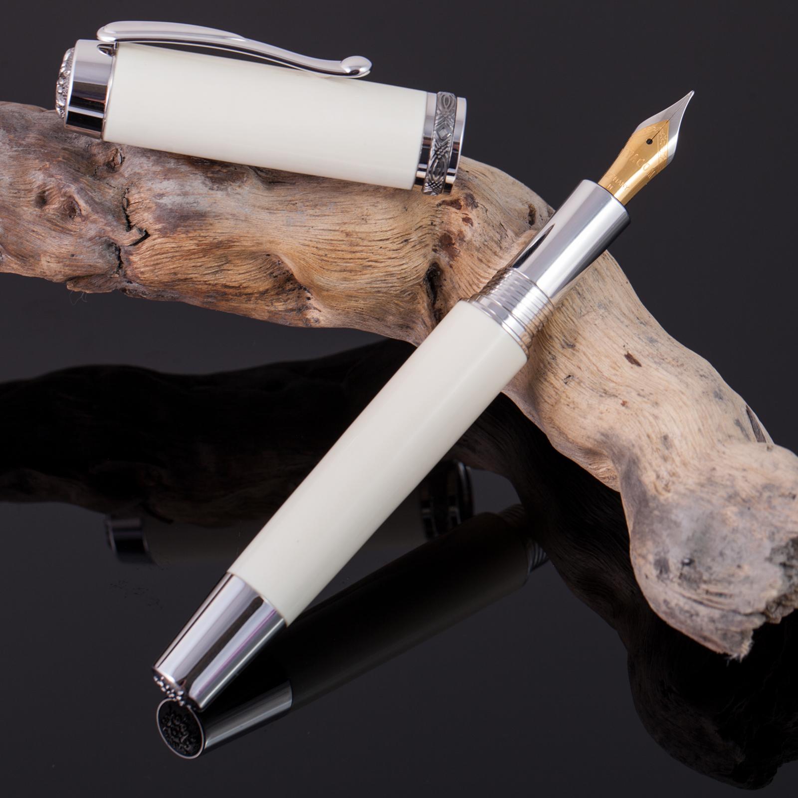 Füller-Mammut-Füllfederhalter-Unikat-Rarität-Mammutelfenbein-Gold-002