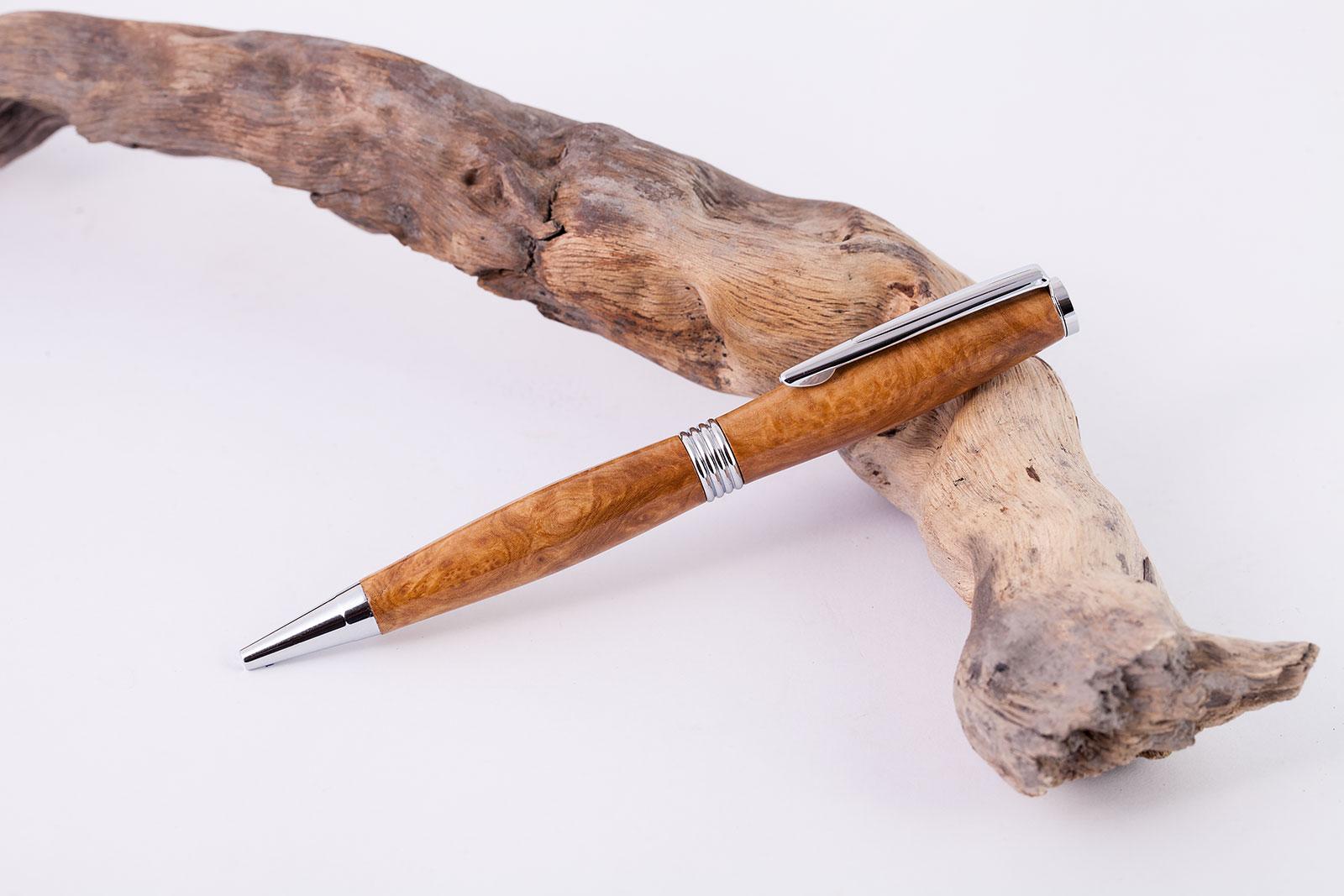 Holz-Dreh-Kugelschreiber-Brown-Mallee-2