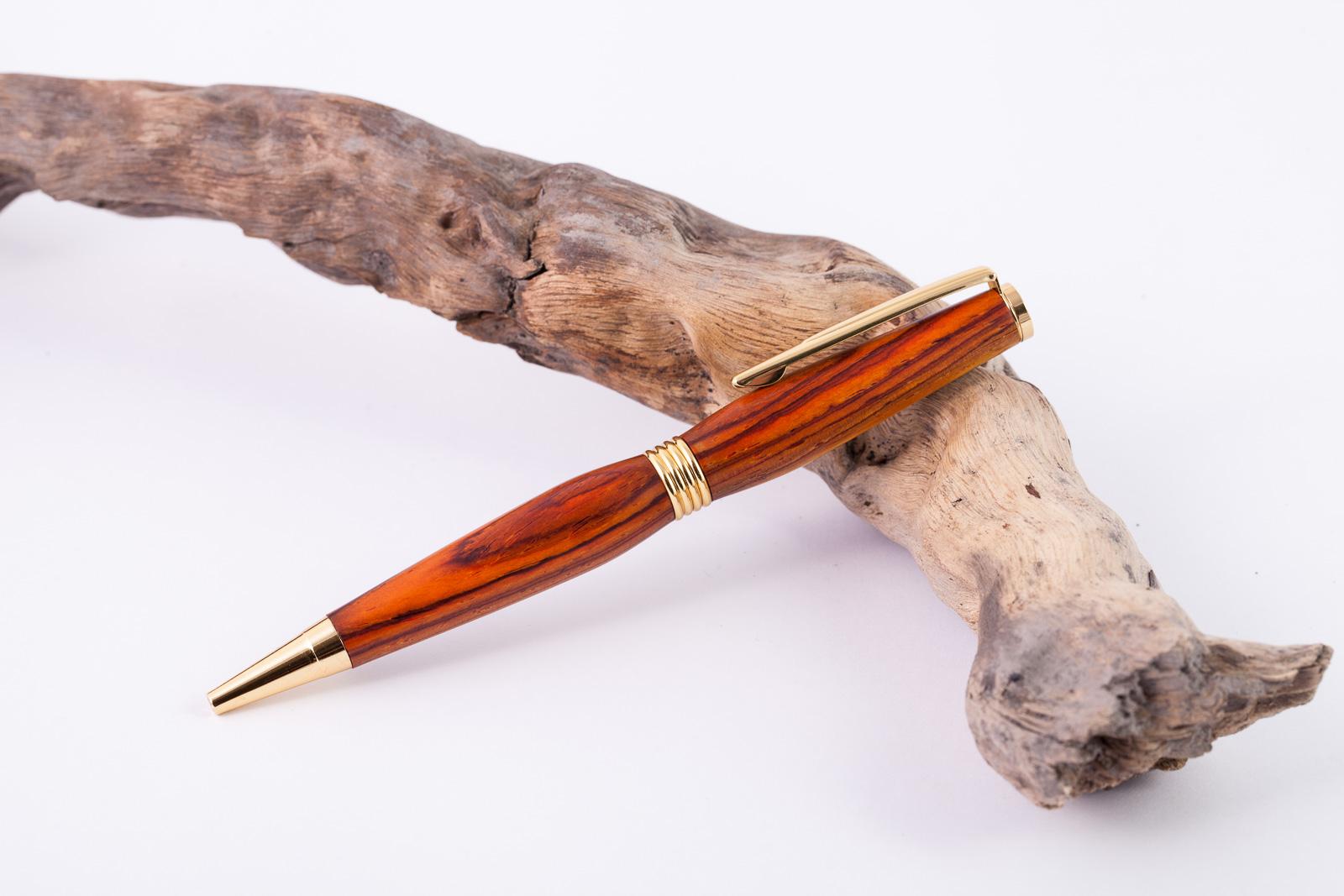 Holz-Dreh-Kugelschreiber-Cocobolo