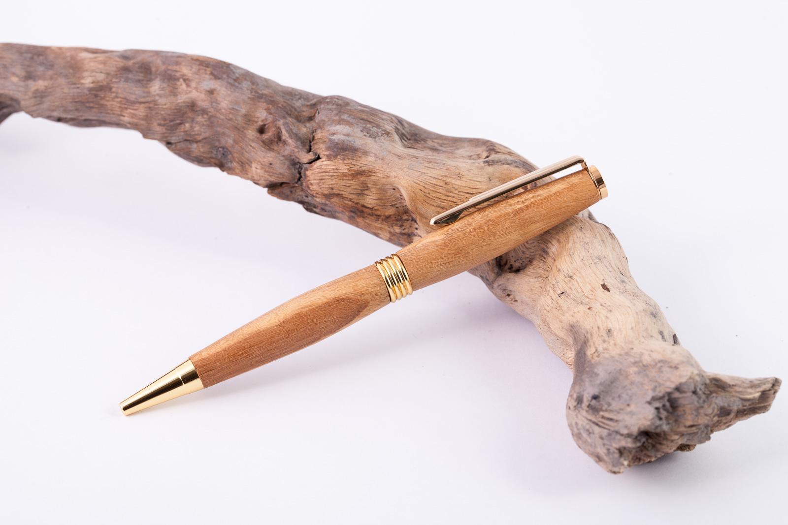 Holz-Dreh-Kugelschreiber-Olive