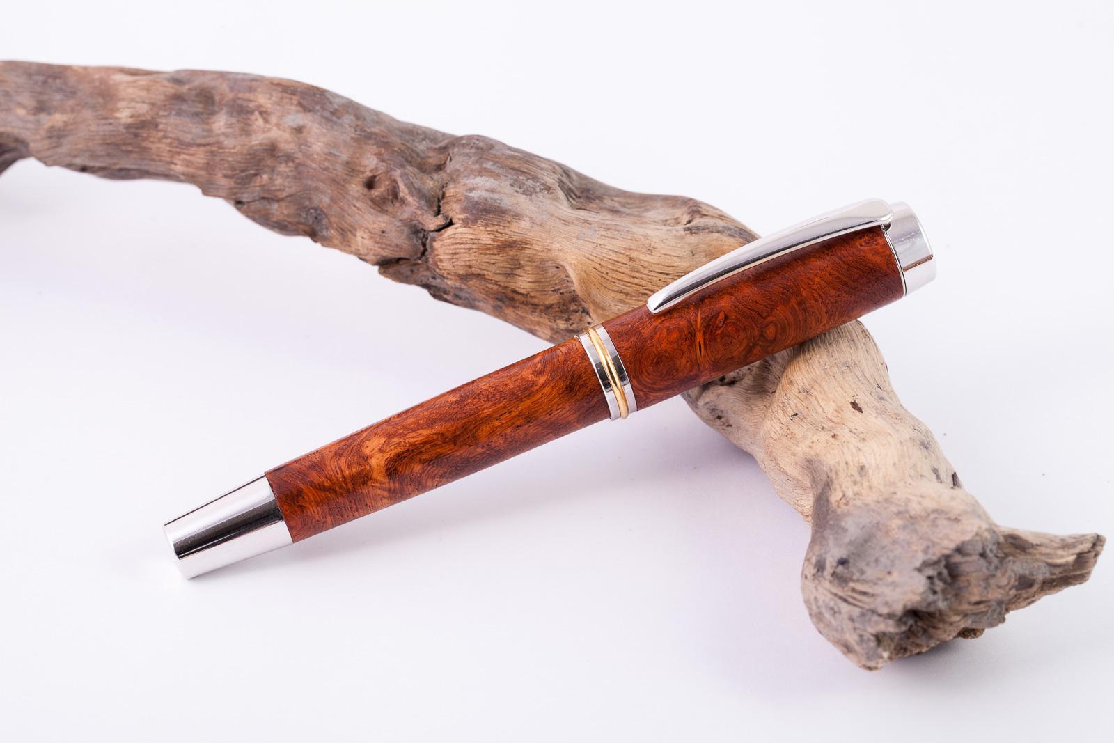 Holz-Füllfederhalter-Amboina-Maser