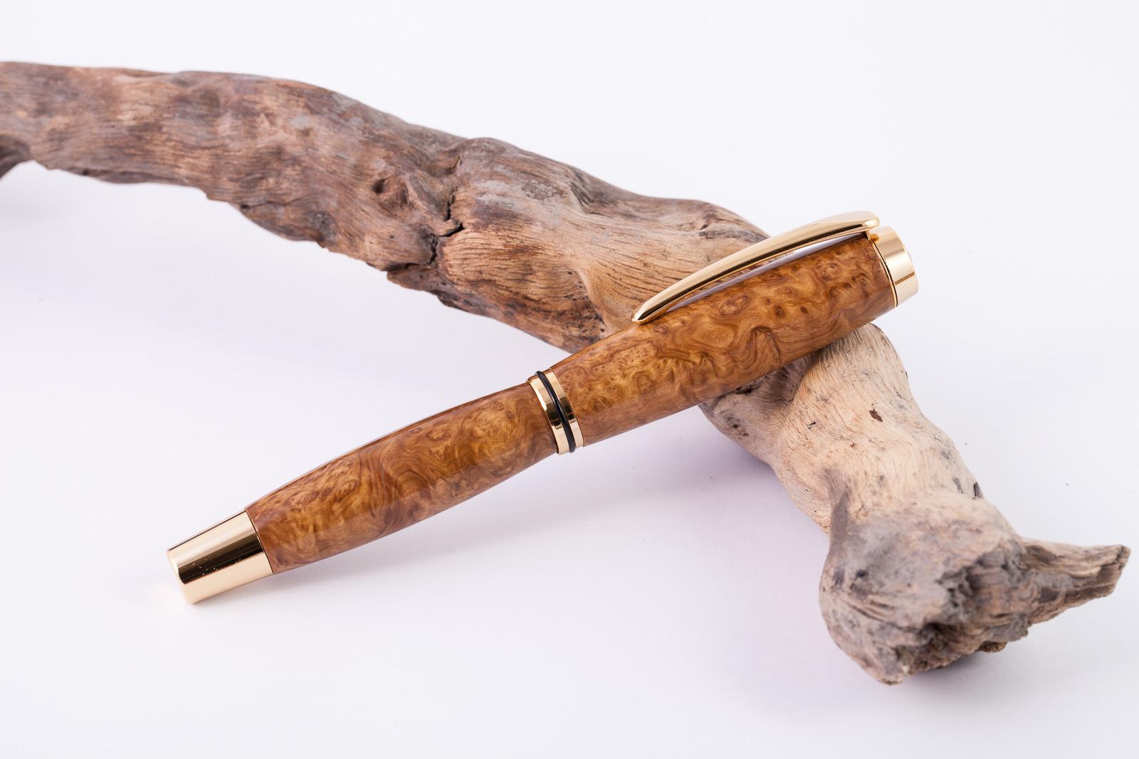 Holz-Füllfederhalter-Brown-Mallee