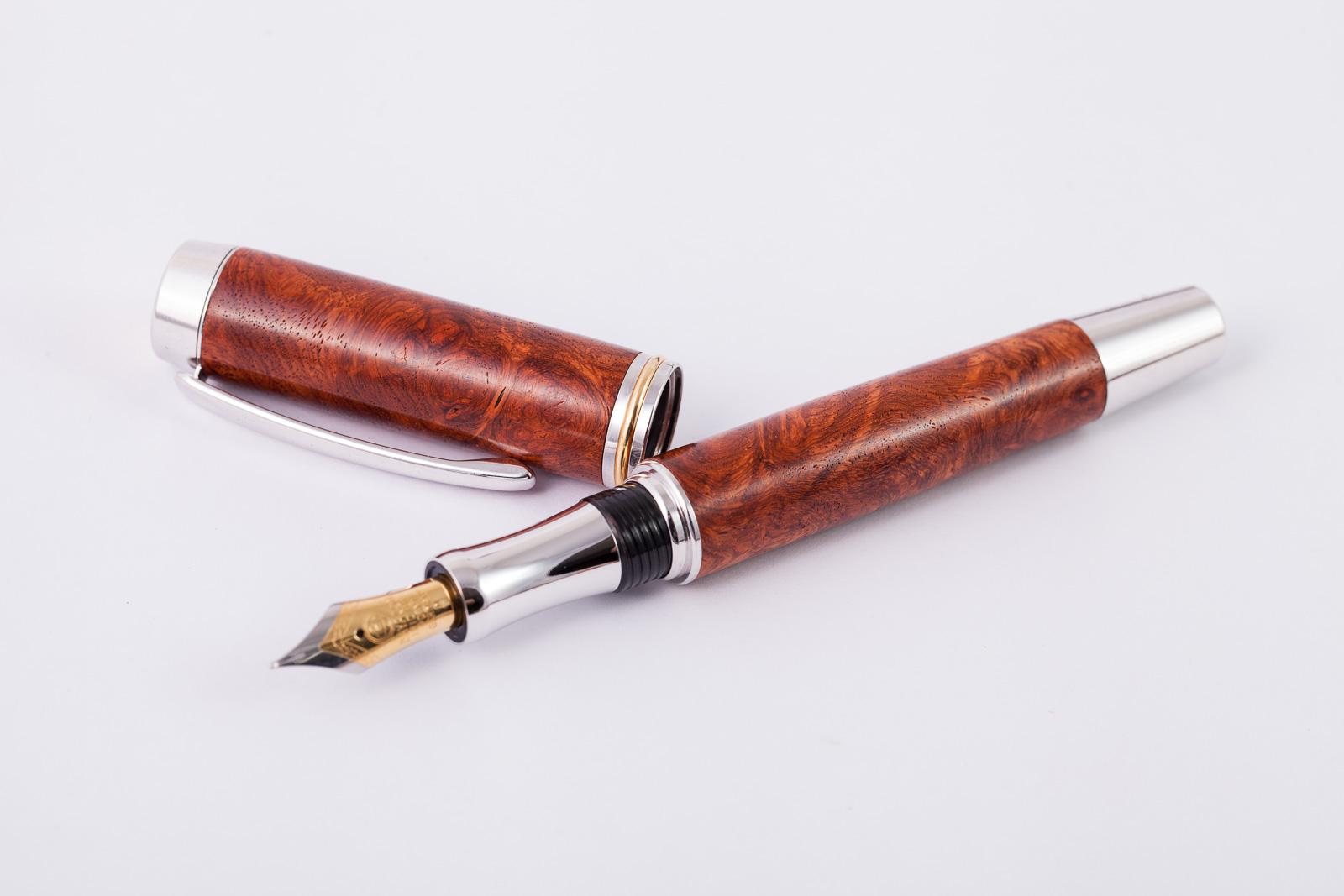 Holzfüllfederhalter-Handarbeit-Amboina