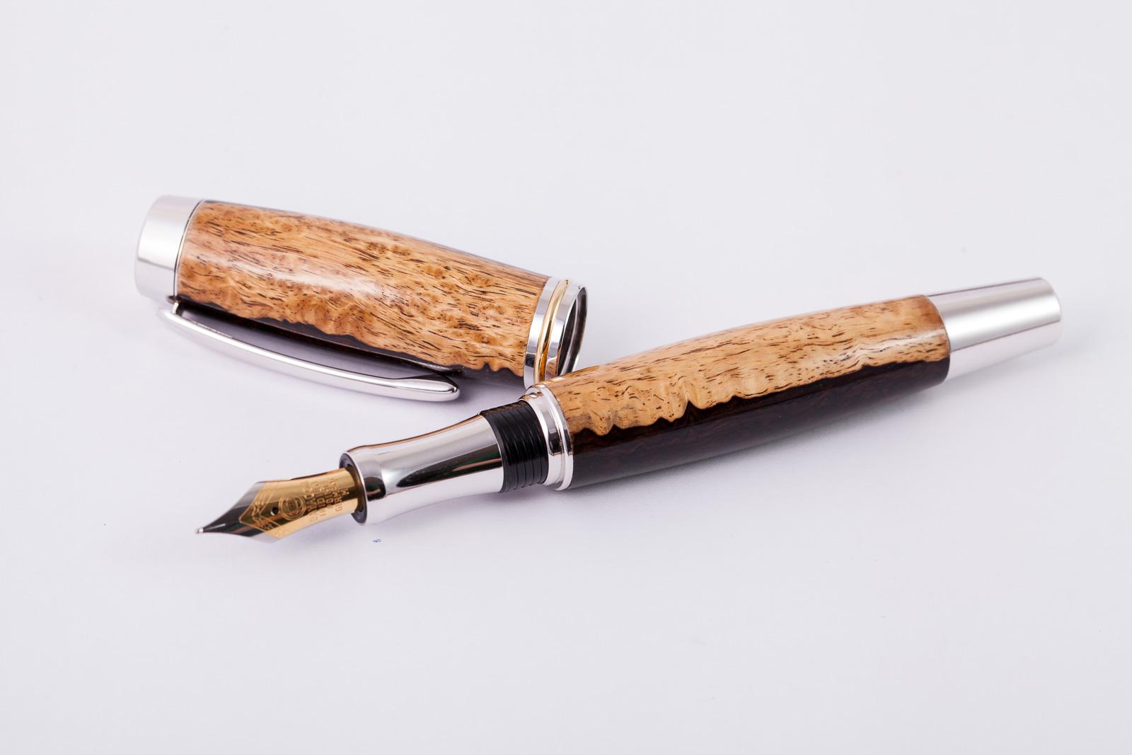 Holzfüllfederhalter-Handarbeit-Grenadill