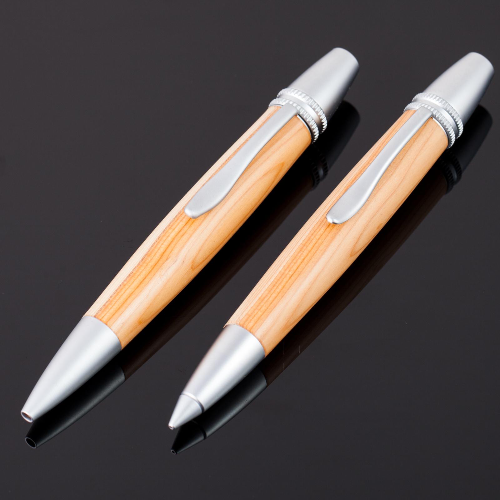 Eibe-Holz-Kugelschreiber-Bleistift-Polaris-001