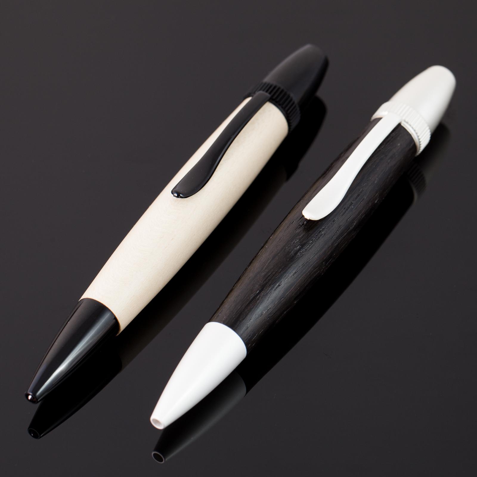 Kugelschreiber-Mooreiche-Holly-black-white-yin-yang-Holz-Polaris-001
